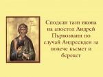 Сподели тази икона на апостол Андрей Първозвани по случай Андреевден за повече късмет и берекет