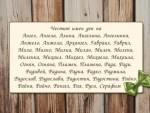 Честит имен ден на Ангел, Ангела, Алина, Ангелина, Ангелинка, Анжела, Архангел