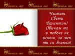 Честит Свети Валентин! Обичам те и повече не искам, за мен ти си всичко!