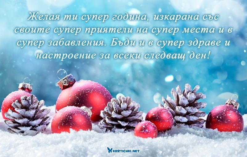 Желая ти супер година, изкарана със своите супер приятели