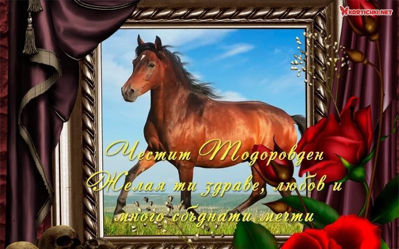 Честит Тодоровден. Желая ти здраве, любов и много сбъднати мечти