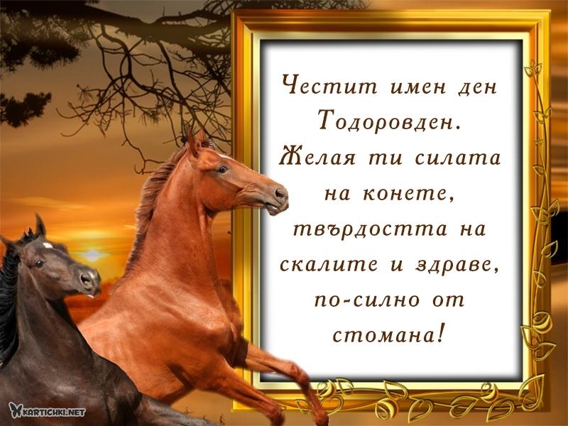 Честит имен ден Тодоровден