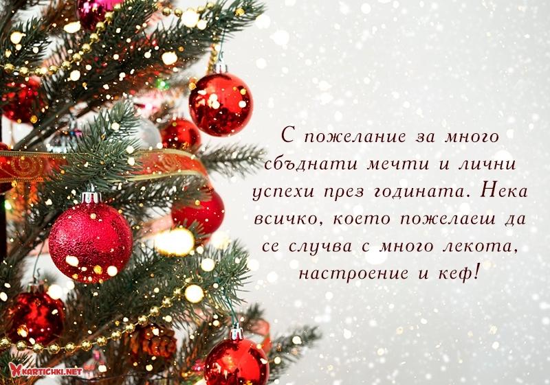 С пожелание за много сбъднати мечти и лични успехи през годината