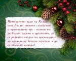 Истинското чудо на Коледа нека бъдат твоето семейство и приятелите ти