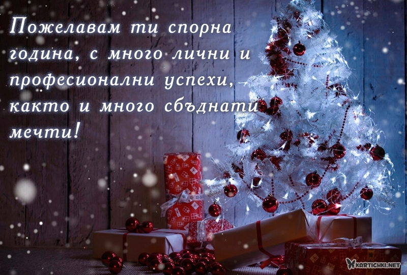 Пожелавам ти спорна година, с много лични и професионални успехи